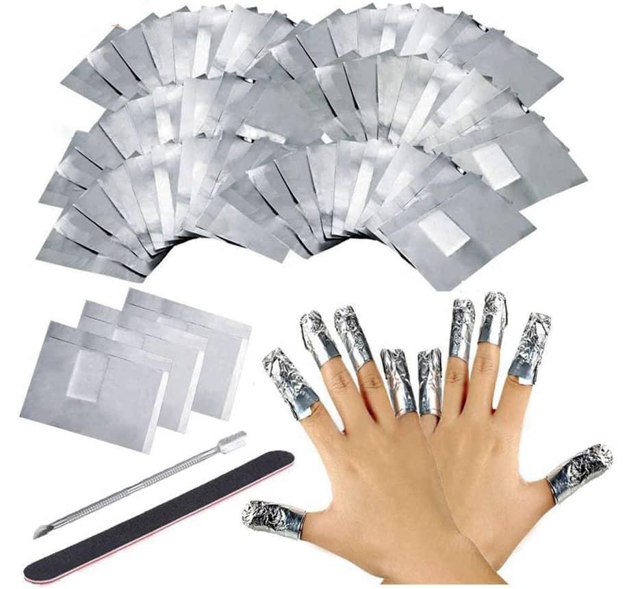 Hojas de aluminio Uñas