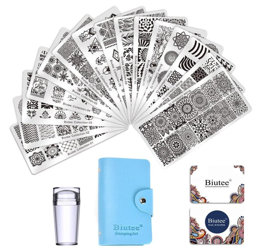 Estampacion Uñas 15 Placas de Stamping