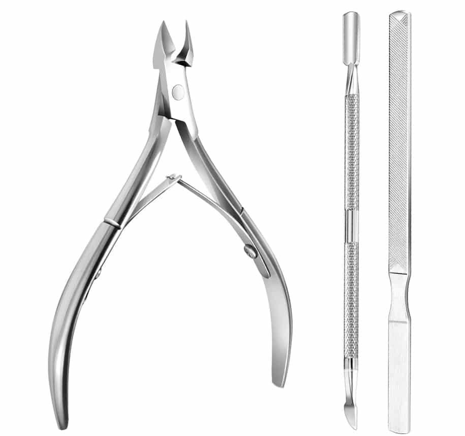 Kit de acero inoxidable 3 piezas manicura