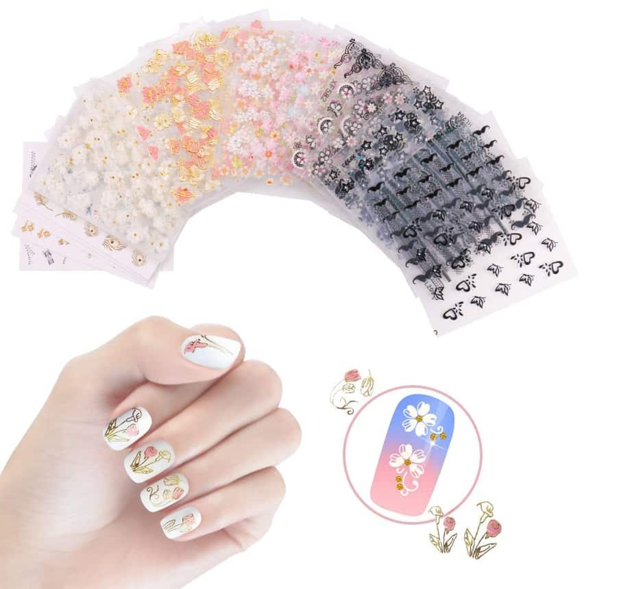 3D pegatinas de uñas
