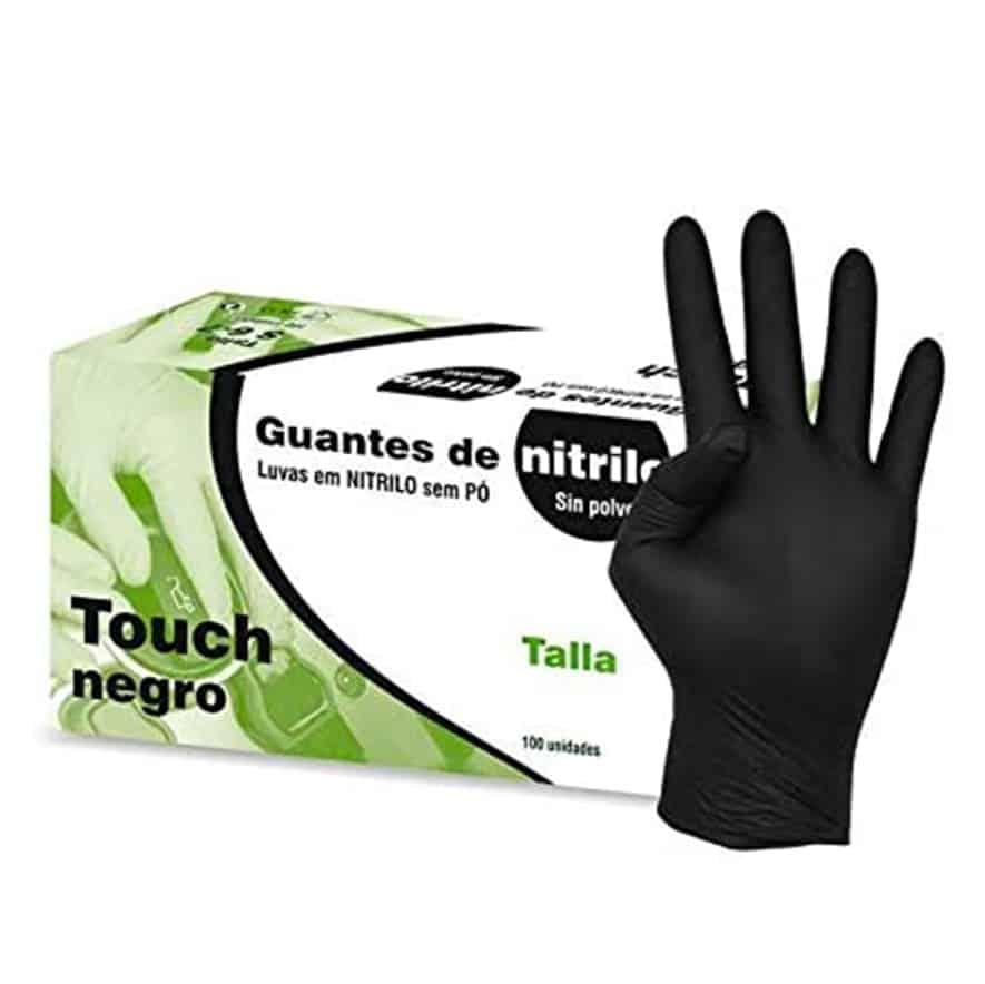 Kiepe Guantes Nitrilo Touch Negro, Pequeño